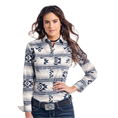 Panhandle Ladies Wasatch Aztec Print Western Shirt R4S8402