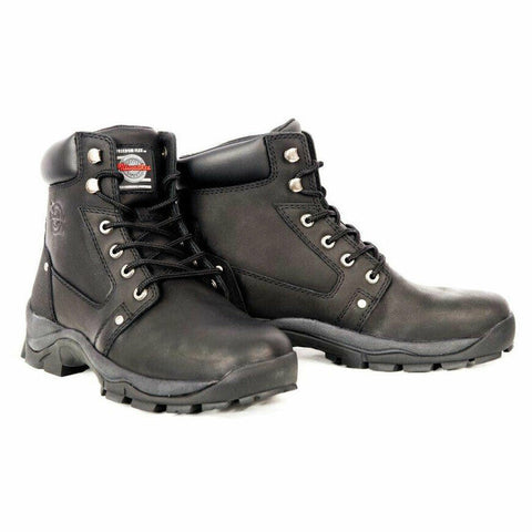 Milwaukee Men's Black Expedition Motorcycle Boots MB475