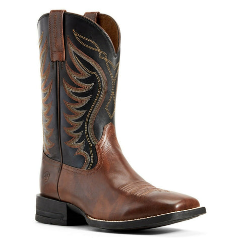 Ariat Men's Red Brown & Black AMOS Hand Stand Boot 10029689