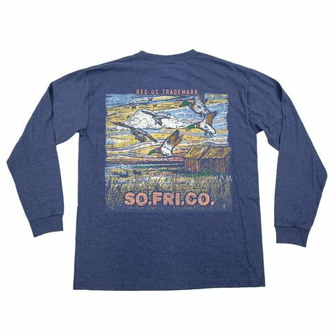 Southern Fried Cotton Duck Hunt Summer Shadow LS T-shirt SFM31248