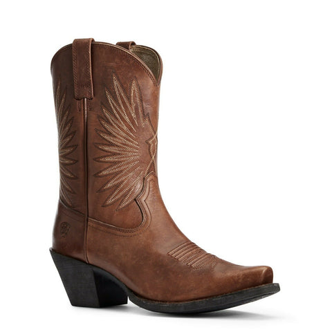 Ariat Ladies Naturally Distressed Cognac Goldie Boot 10033886