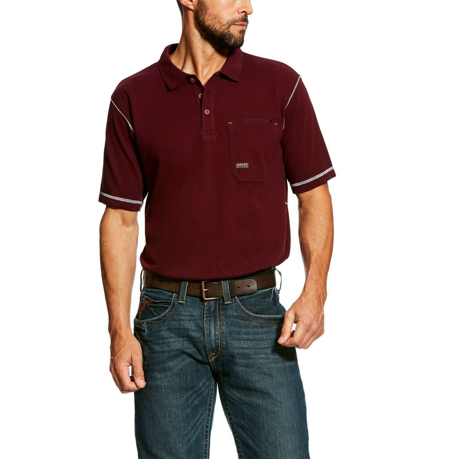 Ariat  Men's Malbec Rebar Workman Polo Shirt 10022418