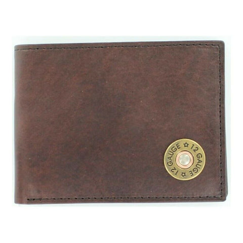 Nocona Brown Bullet Bi-Fold with Flip-case Rodeo Wallet N5429802