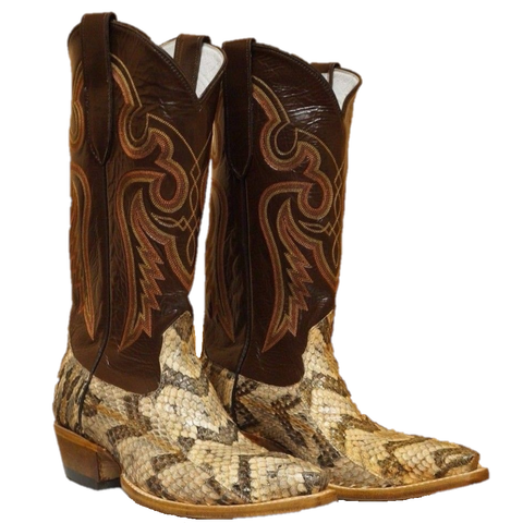 Cowtown Men's Brown Canebrake Rattlesnake Western Boot N815