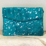 American Darling Turquoise Cowhide and Silver Crossbody ADBGS178TRQ