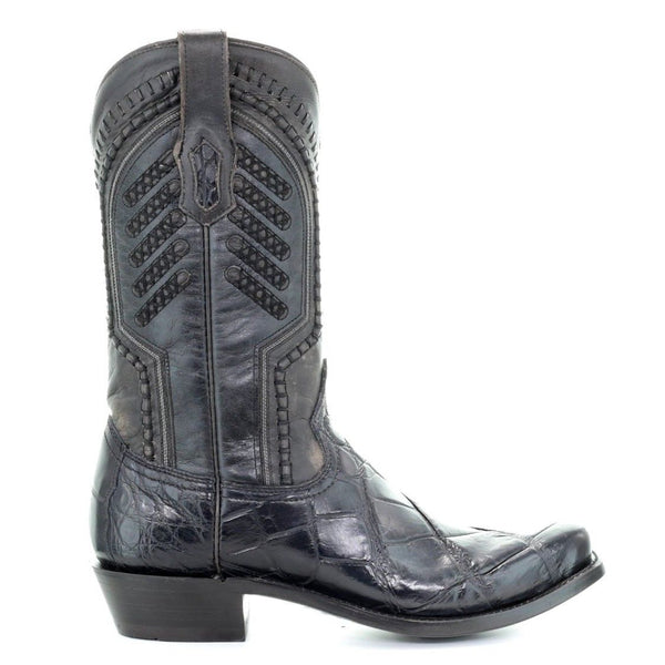 Corral Men's Grey Genuine Alligator Narrow Square Toe Boots A3475