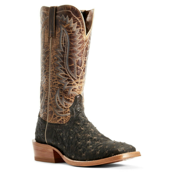 Ariat Men's Showman Mocha Full Quill Ostrich Boots 10029613