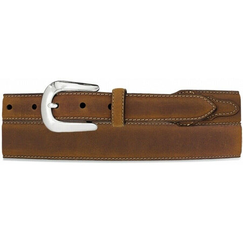 Justin by Sliver Creek Men's Brown Taper Dress Belt C70289