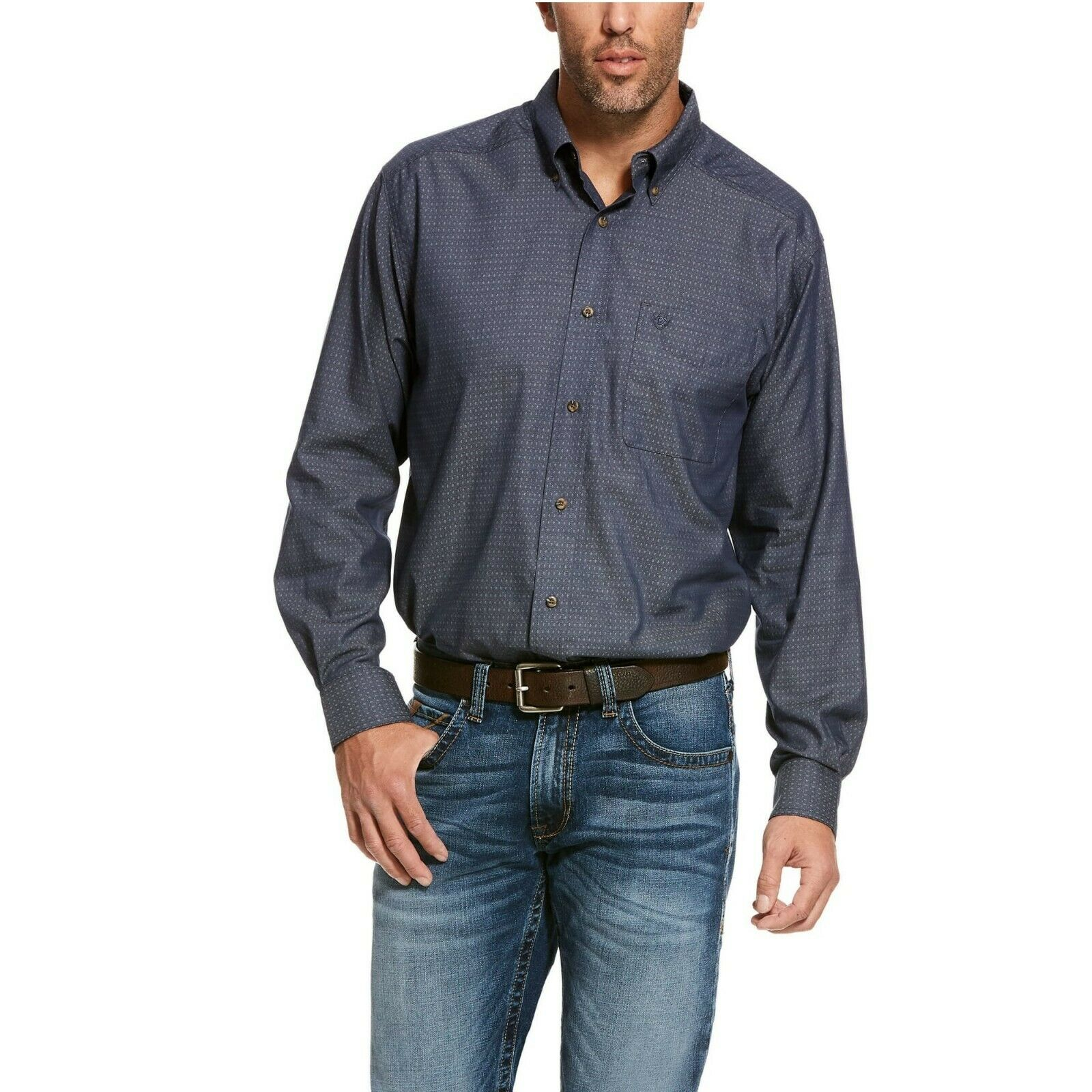 Ariat  Men's Nigh Sky Searson Print Shirts 10028227