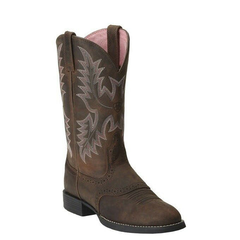 Ariat Ladies Heritage Stockman Driftwood Brown Western Boots 10001605