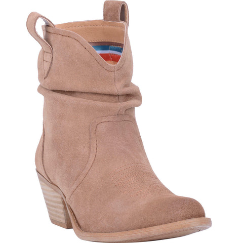 Dingo Ladies Jackpot Tan Leather Slouch Booties DI132-TAN