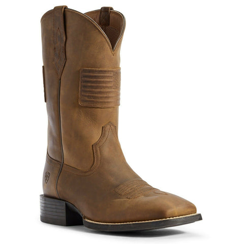 Ariat® Men's Distressed Tan Patriot II Boots 10031444