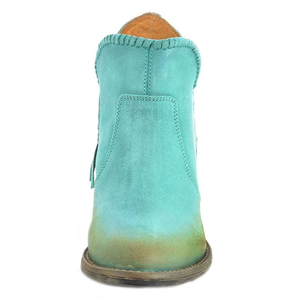 Circle G by Corral Ladies Turquoise Fringe Shortie Boot Q0005