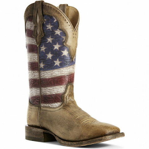Ariat® Men's Ranchero Stars & Stripes Patriotic Boots 10027183