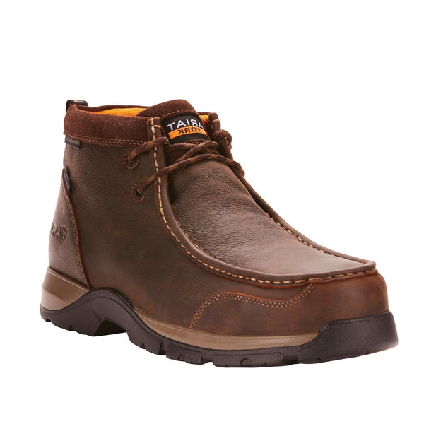 Ariat® Men's Edge LTE Moc Brown H2O Composite Toe Work Boots 10024956 - Wild West Boot Store