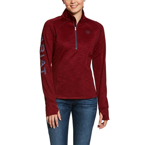 Ariat Ladies TEK Team Cabernet Red 1/2 Zip Fleece Sweatshirt 10028318