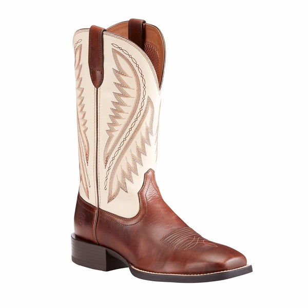 Ariat® Men's Sport Stonewall Native Cream Brown Western Boots 10023145 - Wild West Boot Store