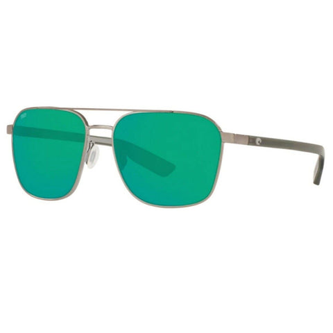Costa Wader Gunmetal Frame with Green Lens Sunglasses WDR 294 OGMP