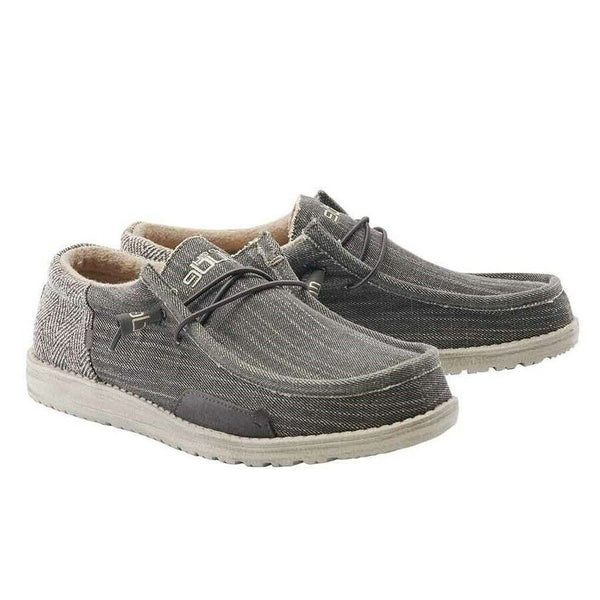 Hey Dude Men's Wally Canvas Herringbone Bruno Shoes 110418801