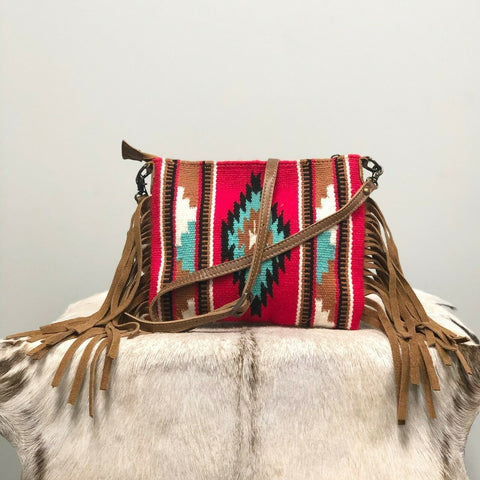 American Darling Red Aztec Saddle Blanket Crossbody ADBG236DAR3