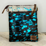American Darling Cowhide & Metallic Turquoise Purse ADBGS153ACTRQ