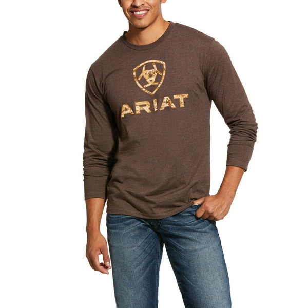 Ariat® Men's Brown Liberty USA Long Sleeve T-Shirt 10031711