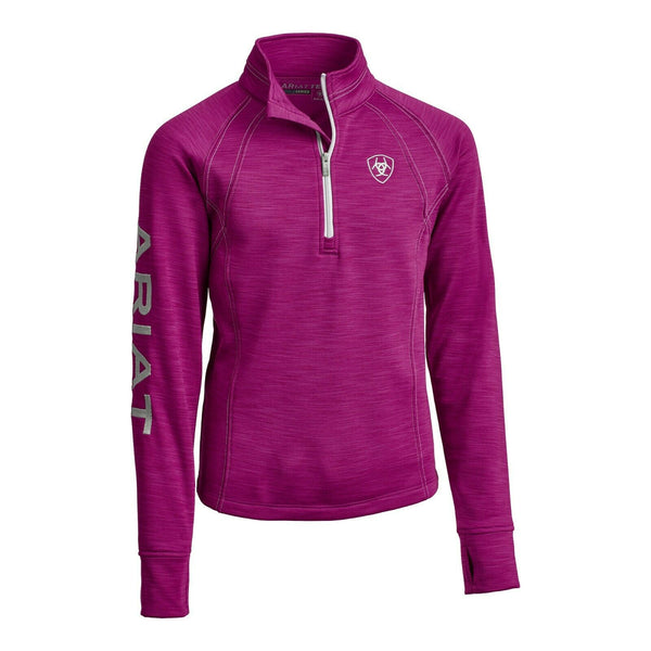Ariat® Girls Tek Team 1/2 Zip Imperial Violet Sweatshirt 10032662
