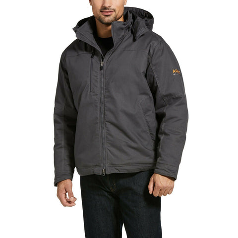 Ariat® Men's Rebar MaxMove Cordura Grey Insulated Hood Jacket 10032901
