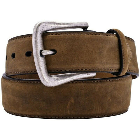 Nocona Men's Distressed Brown Western Overlay Leather Belt N2450444