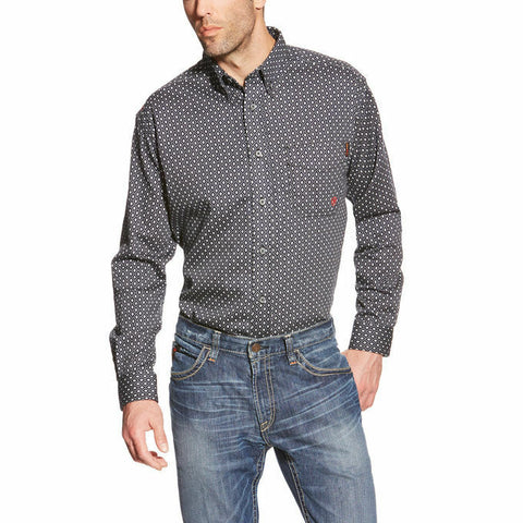 Ariat® Men's FR Tyler Quite Shade Button Front Work Shirt 10018132