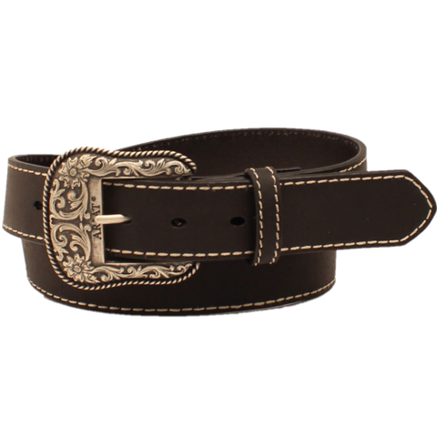 Ariat Ladies Black  Heavy Stitch Edge Belt A1523401