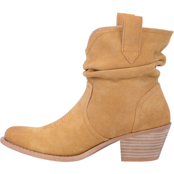 Dingo Ladies Jackpot Mustard Leather Slouch Booties DI132