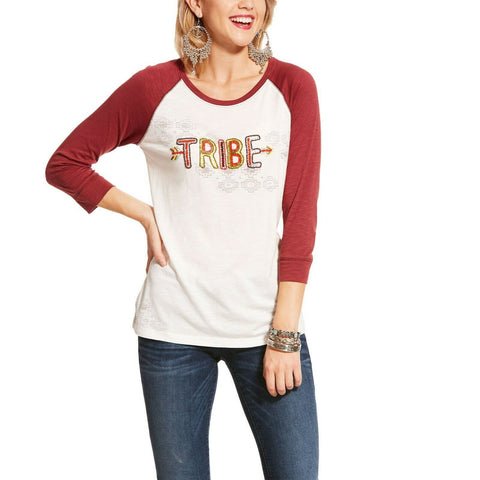 Ariat® Ladies Snow White Tribe Raglan Top 10028783