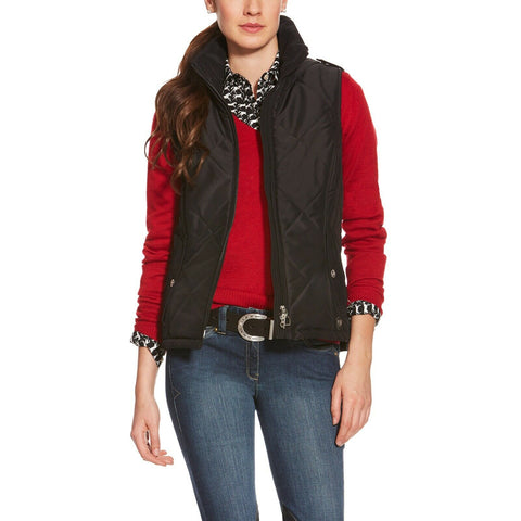 Ariat Ladies Terrace Black Insulated Weatherproof Vest 10017816
