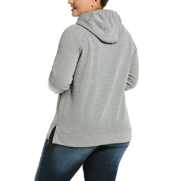 Ariat® Ladies REAL Serape Logo Heather Grey Hoodie Sweatshirt 10032854