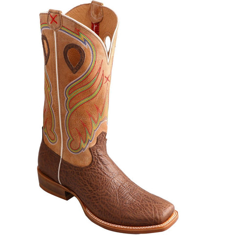 Twisted X Men's Crazy Horse Ruff Stock Cowboy Boots MRSL032 - Wild West Boot Store