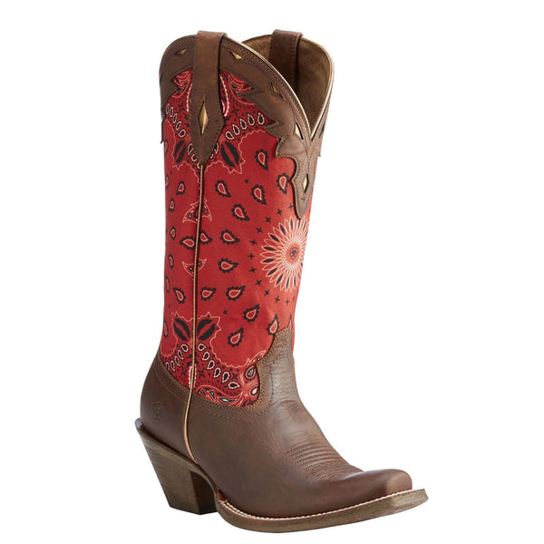 Ariat® Ladies Circuit Cheyenne Cattle Creek Brown & Red Boots 10023152 - Wild West Boot Store
