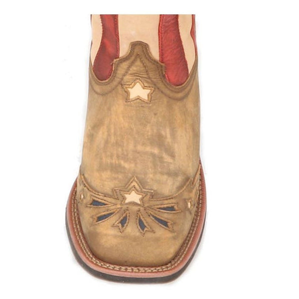 Laredo Ladies Square Toe Flag Boot 5665 - Wild West Boot Store - 6
