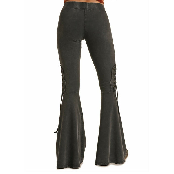 Rock & Roll Cowgirl Black Bell Bottom Pants 78-6315