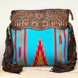 American Darling Blue & Red Saddle Blanket Crossbody ADBGZ158