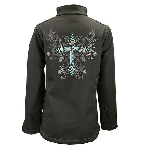 Cowgirl Hardware Ladies Blooming Cross Back Jacket 292171-010