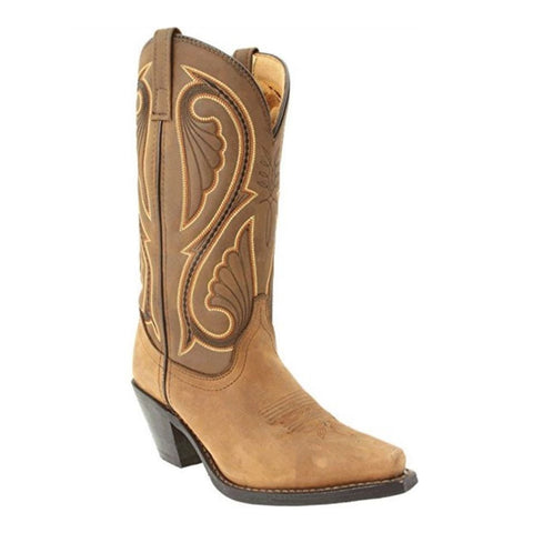 Laredo Ladies Brown Embroidered Boot 5732 - Wild West Boot Store - 1