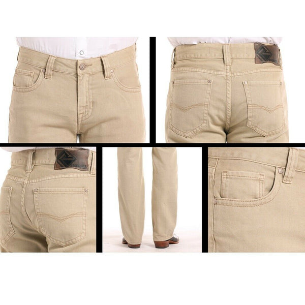 Rock & Roll Denim Men's Double Barrel Straight Khaki Pants M0S8678