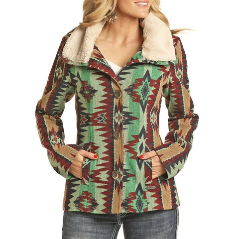 Panhandle Ladies Jacquard Aztec Jacket 52-2685
