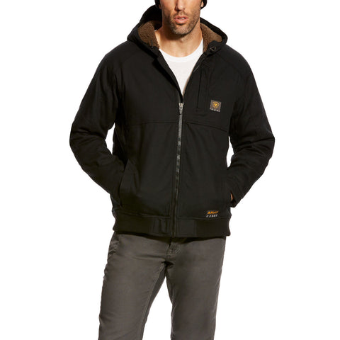 Ariat® Men's Rebar Duracanvas Black Hooded Jacket 10023915