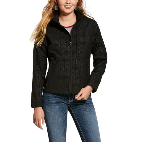 Ariat® Ladies Black Aztec Concealed Carry Softshell Jacket 10028615