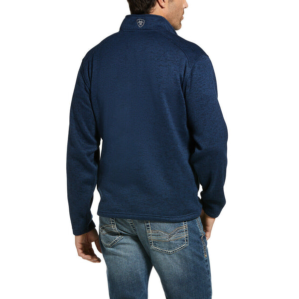 Ariat® Men's Indigo Heather Caldwell Full Zip Sweater Jacket 10032950