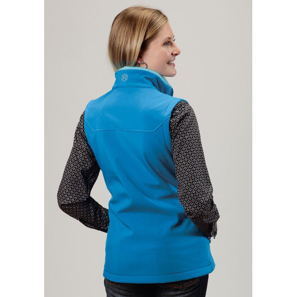 Roper Ladies Blue Soft Shell Vest 03-098-0781-0652