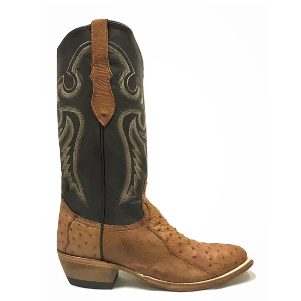 Cowtown Men's Brown 4-Piece Ostrich Leather Western Boots W174