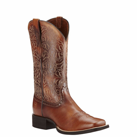 Ariat® Ladies Round Up Remuda Naturally Rich Brown Western Boot 10019905 - Wild West Boot Store - 1